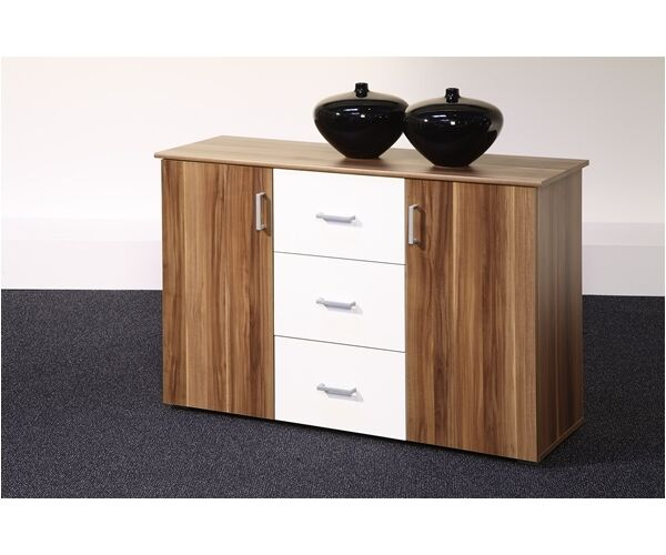 44 332 96 kommode sideboard walnuss nussbaum weiss lift ca. Black Bedroom Furniture Sets. Home Design Ideas
