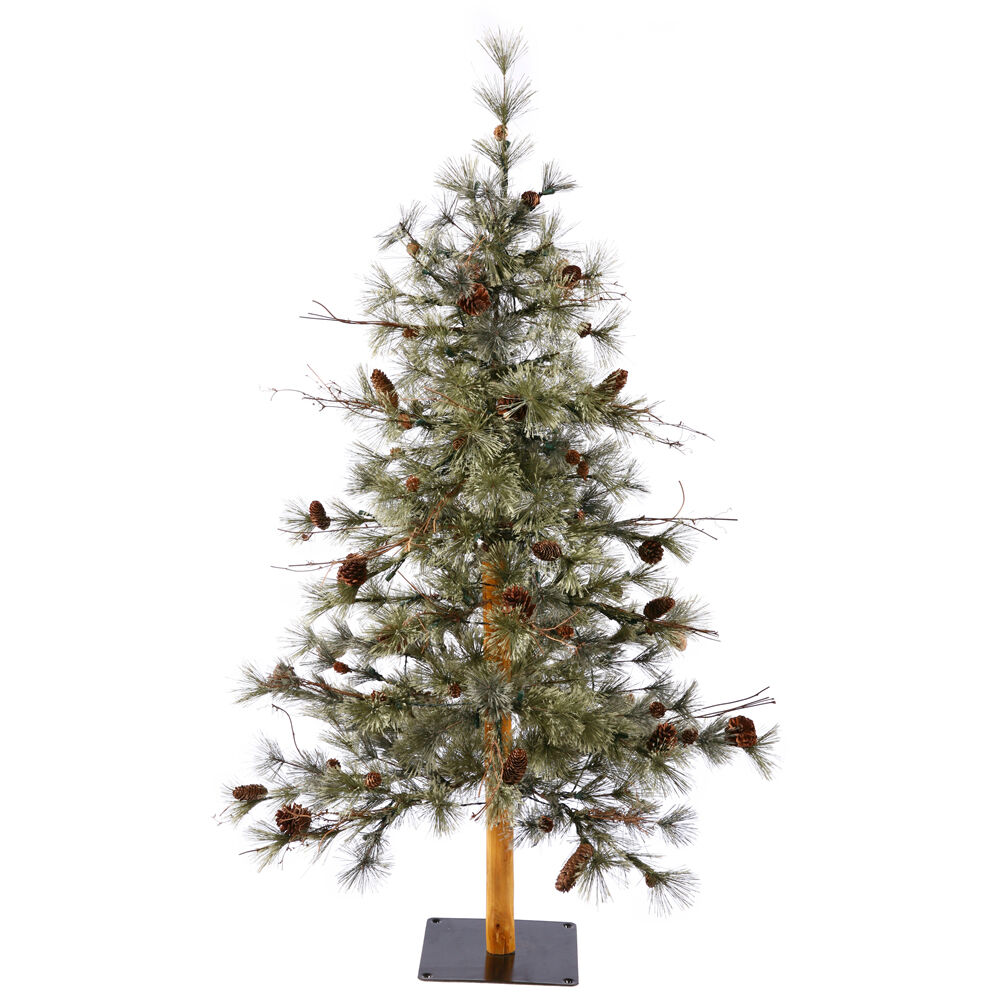 Artificial Christmas Tree With Wood Trunk