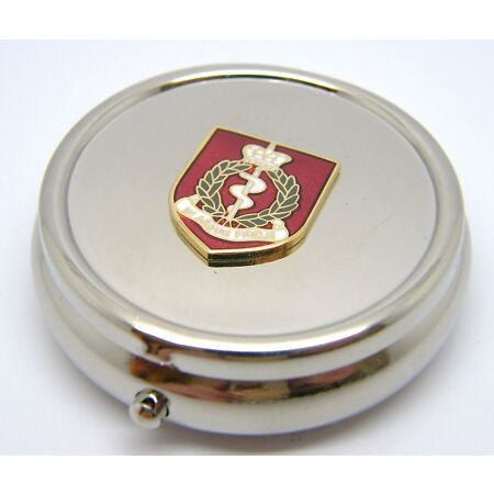 img-THE ROYAL ARMY MEDICAL CORPS MILITARY BADGE PILL BOX TABLET CHOICE SQUARE ROUND