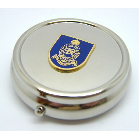 img-THE ROYAL HORSE ARTILLERY ARMY BADGE PILL BOX TABLET CHOICE SQUARE ROUND