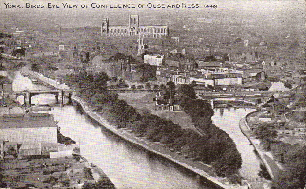 York. Birds Eye View of Confluence of Ouse & Ness ( Foss ...