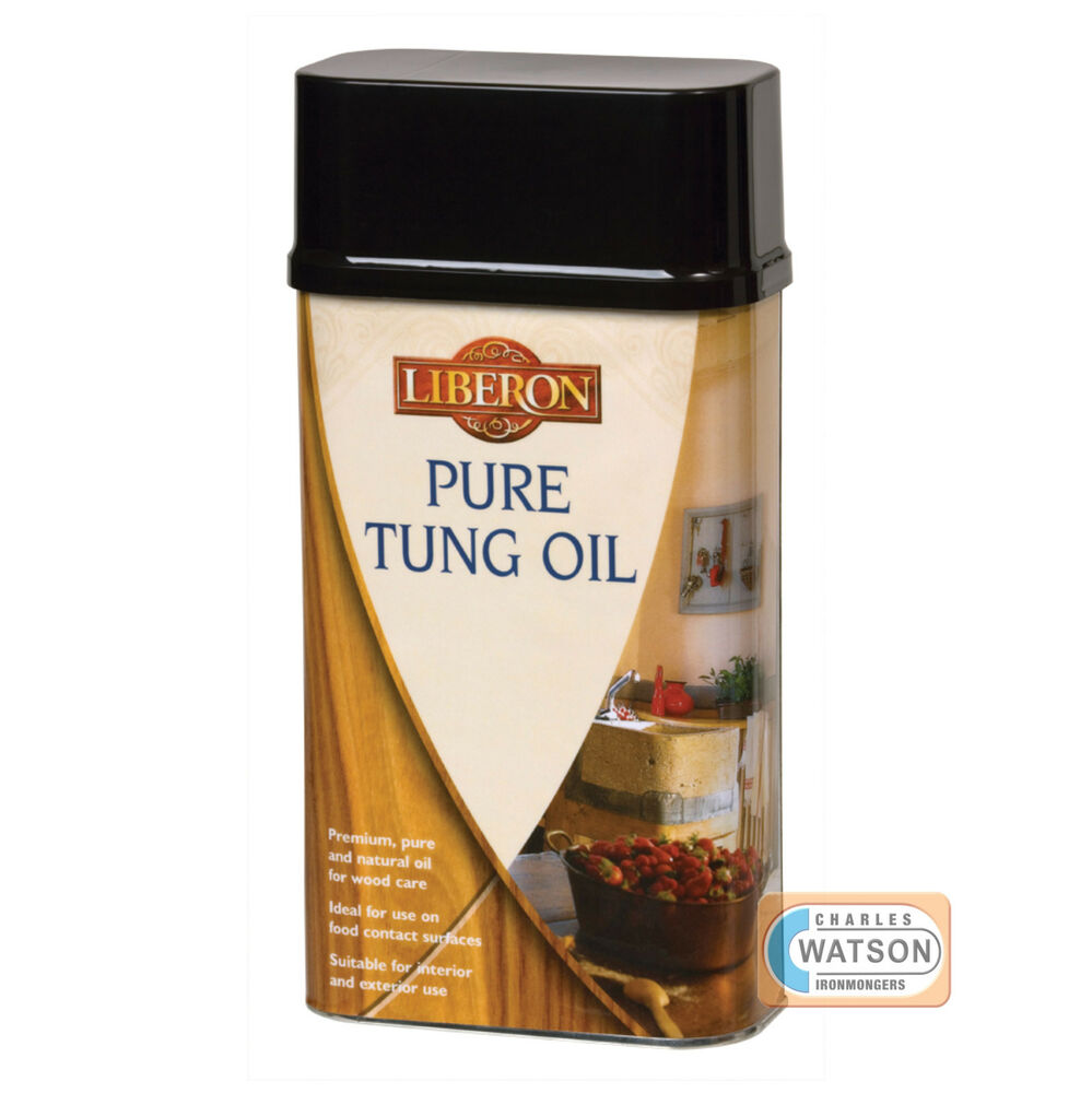 Liberon 250ml 500ml 1 Litre Pure Tung Oil Traditional Wood