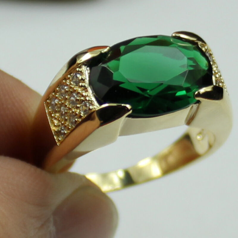 size 9 10 11 jewelry classic men 39 s emerald 10kt yellow