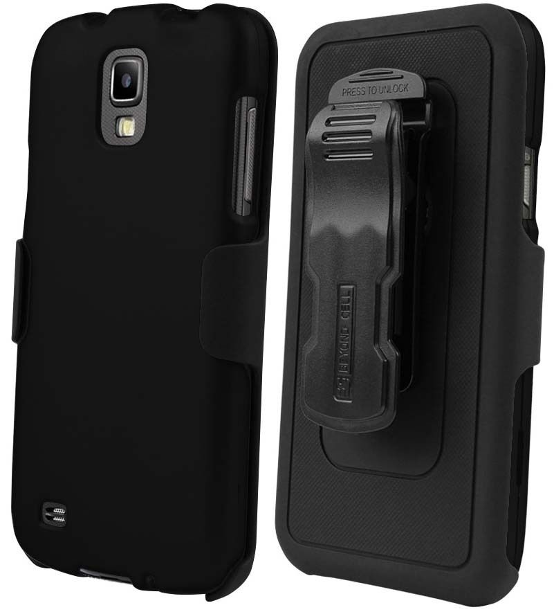 BLACK CASE BELT CLIP HOLSTER SCREEN PROTECTOR FOR SAMSUNG GALAXY S4 ACTIVE i537 | eBay