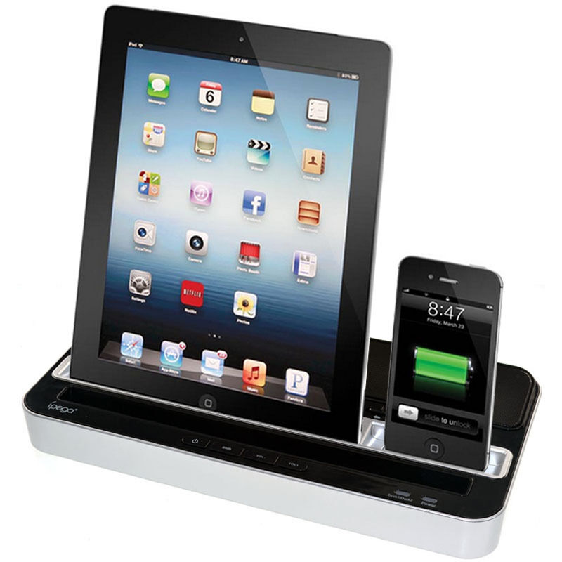 docking station dock speaker charger for ipad mini iphone. Black Bedroom Furniture Sets. Home Design Ideas
