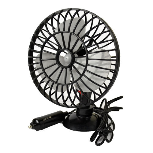 12v 5 car oscillating mini fan cooler caravan van suction pad interior cooling ebay. Black Bedroom Furniture Sets. Home Design Ideas