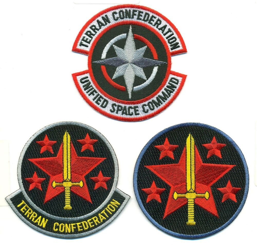 Wing commander terran confederation patch set wing01 03 for Wing commander