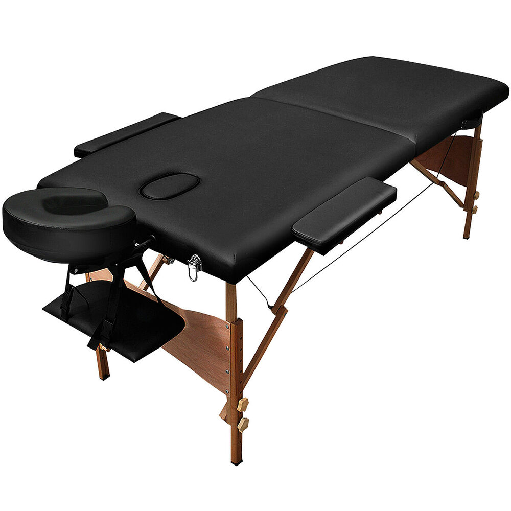 """84""""L Massage Table Portable Facial SPA Bed W/Sheet+Cradle ... 