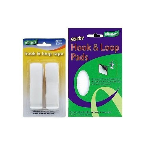 strong self adhesive sticky hook and loop tape pad set for craft rug car mat ebay. Black Bedroom Furniture Sets. Home Design Ideas