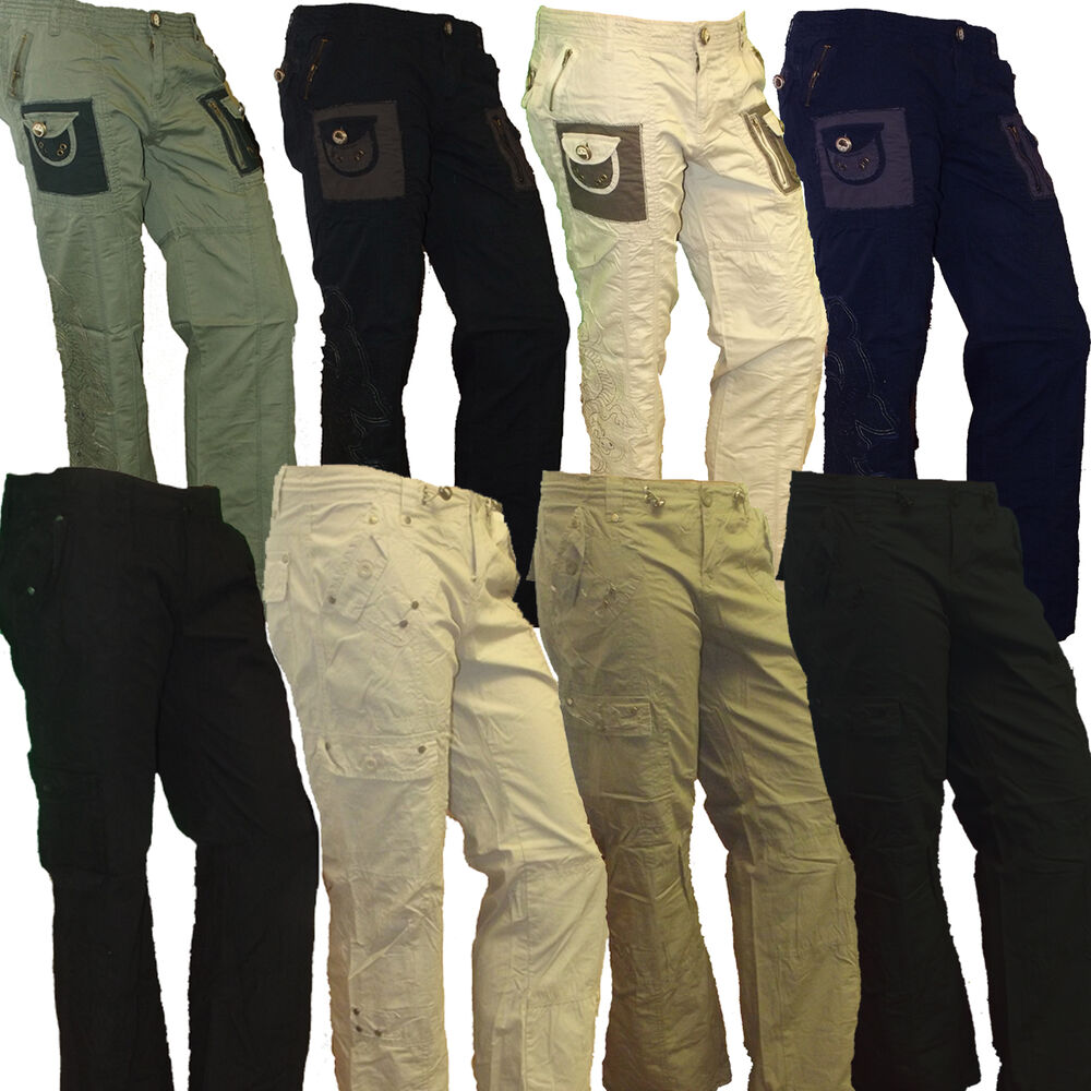 Womens Ladies Miss Posh Pants Trousers Cargo Casual ... - photo#39