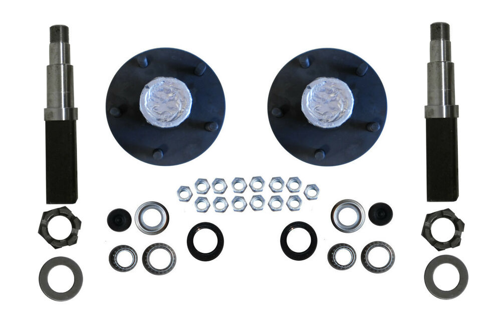 Camper Axle Parts : Build your own trailer axle kit square spindle idler