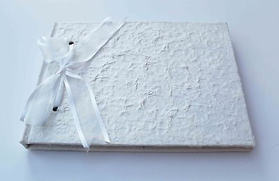 SALE PLAIN WHITE MULBERRY GUEST BOOK IN BOX WEDDING BABY OCCASION DIY NEW
