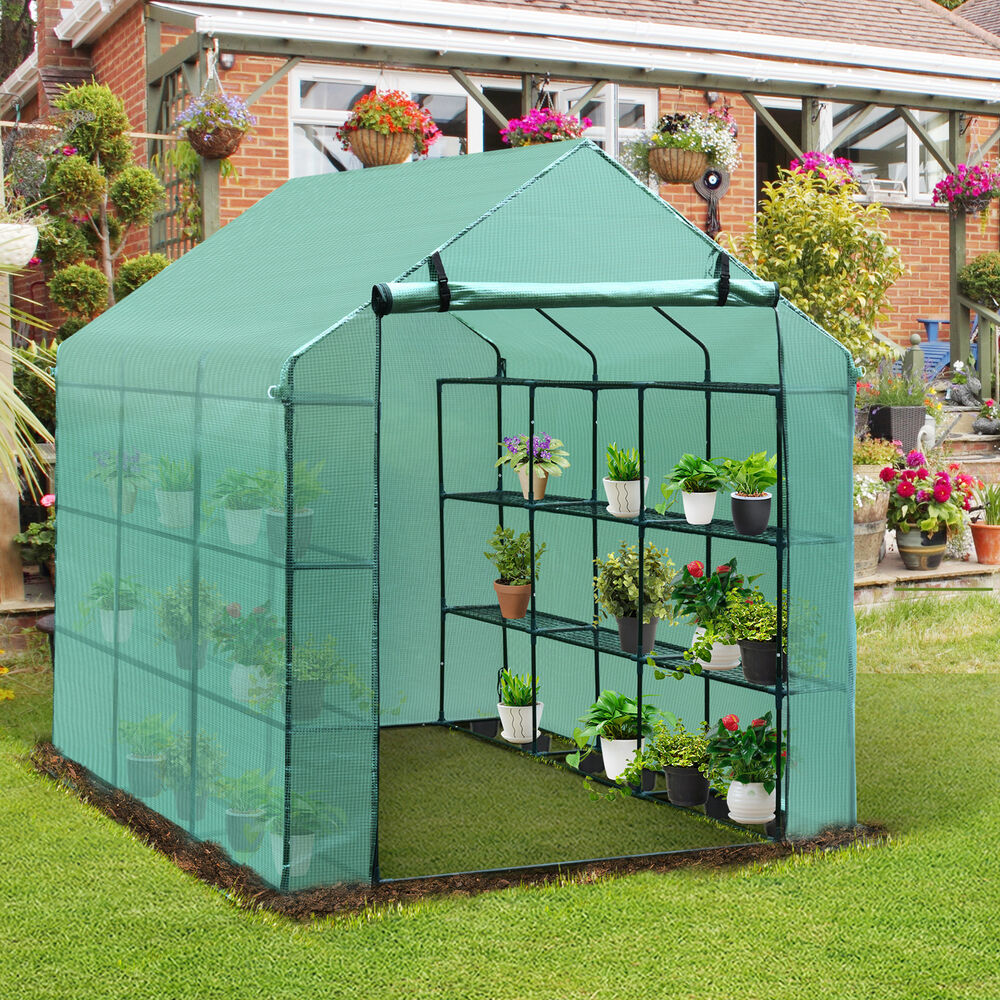 Portable Greenhouses For Backyard Portable Toilet Service Jobs Portable Tv Ns 711 Wd 2tb Elements Portable Hard Drive Black Review: 8'x6'x7' OutSunny Greenhouse Gardening Portable Green
