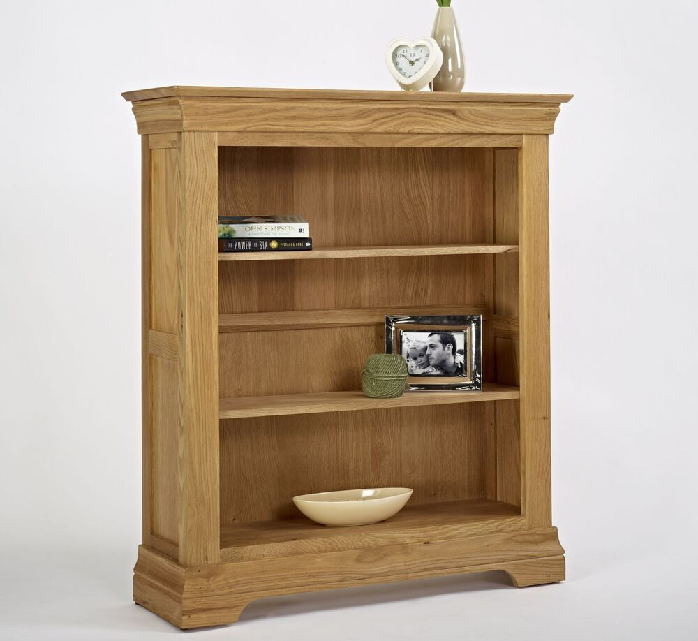 Calais solid oak living room office furniture small for Small bedroom bookcase