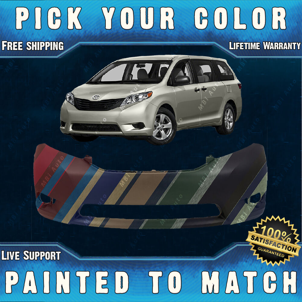 2016 Toyota Sienna Exterior: Front Bumper Cover Fascia For 2011
