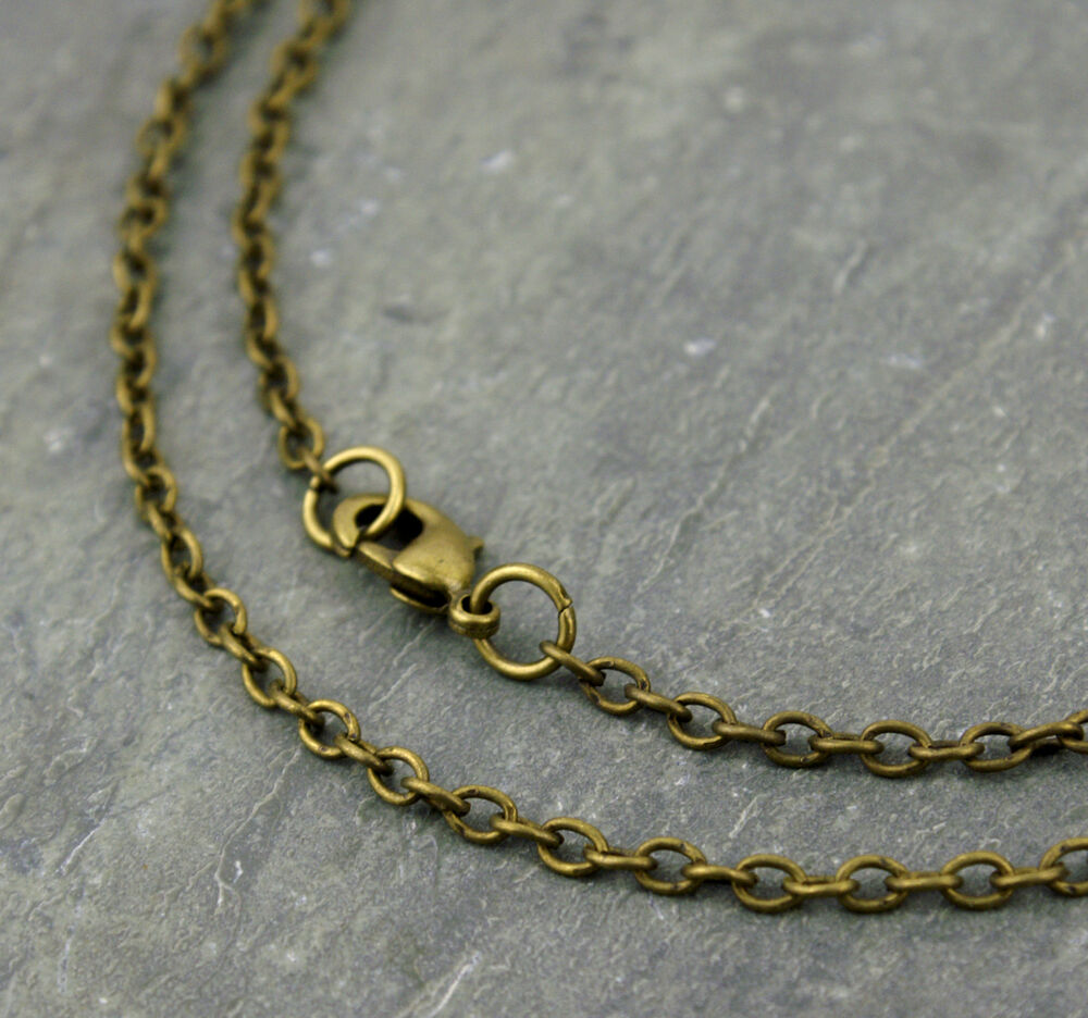 antique bronze chain link cable chain jewelry necklace