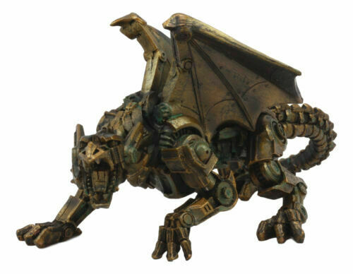 LARGE STEAMPUNK ANTIQUE MECHANICAL DRAGON STATUE VICTORIAN ...