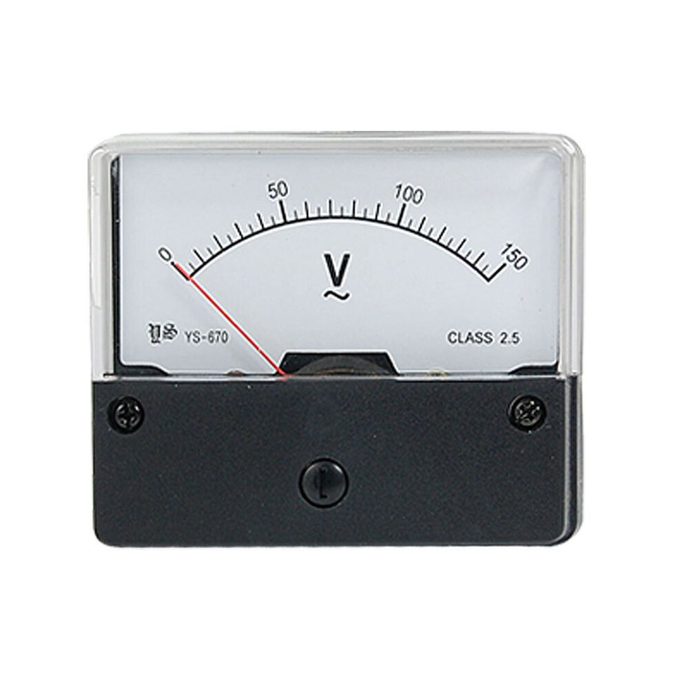 Ac Panel Meters : Ac v analog panel volt meter ebay