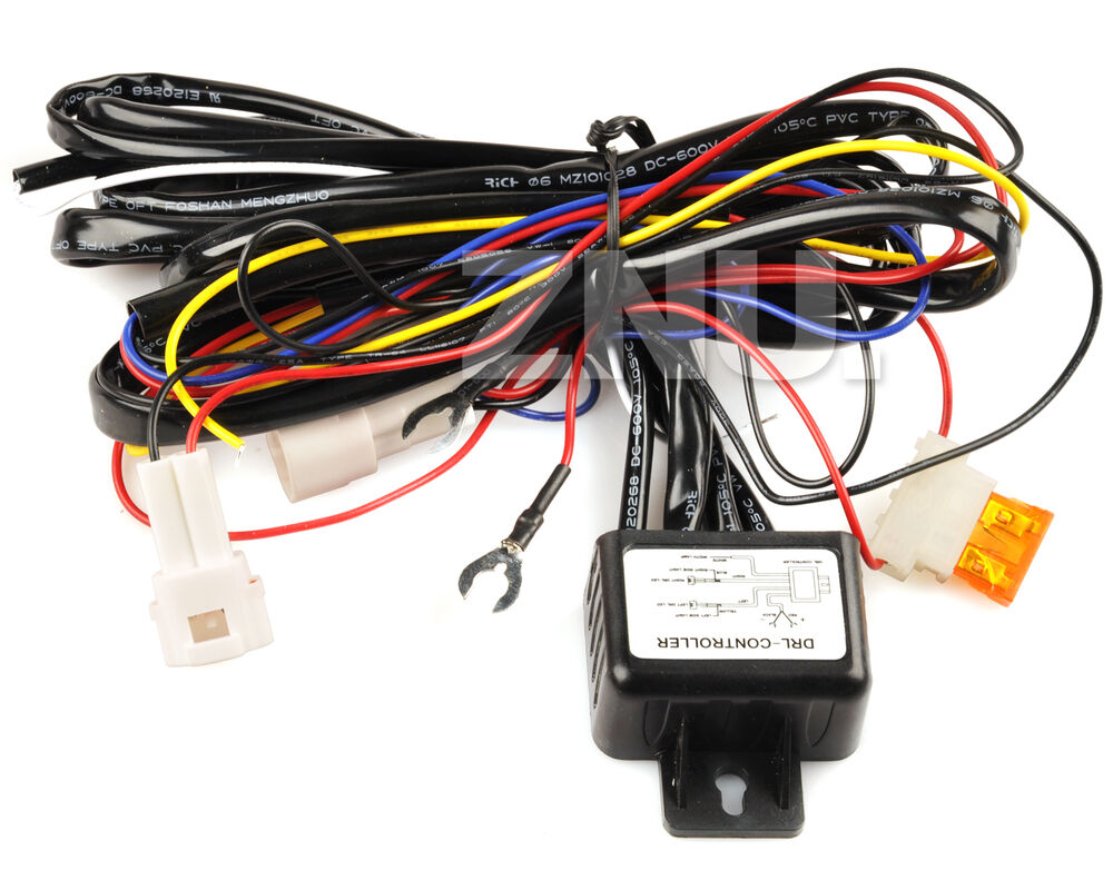reduce car light led drl relay harness automatic on off dimmer dimming system ebay. Black Bedroom Furniture Sets. Home Design Ideas