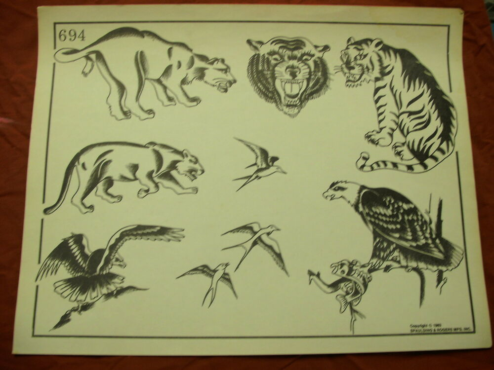 1983 spaulding rogers flash art forest creatures page for Spaulding rogers tattoo