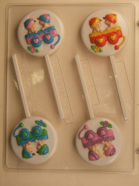 lollipop chocolate candy mold party favor favors baby shower ebay