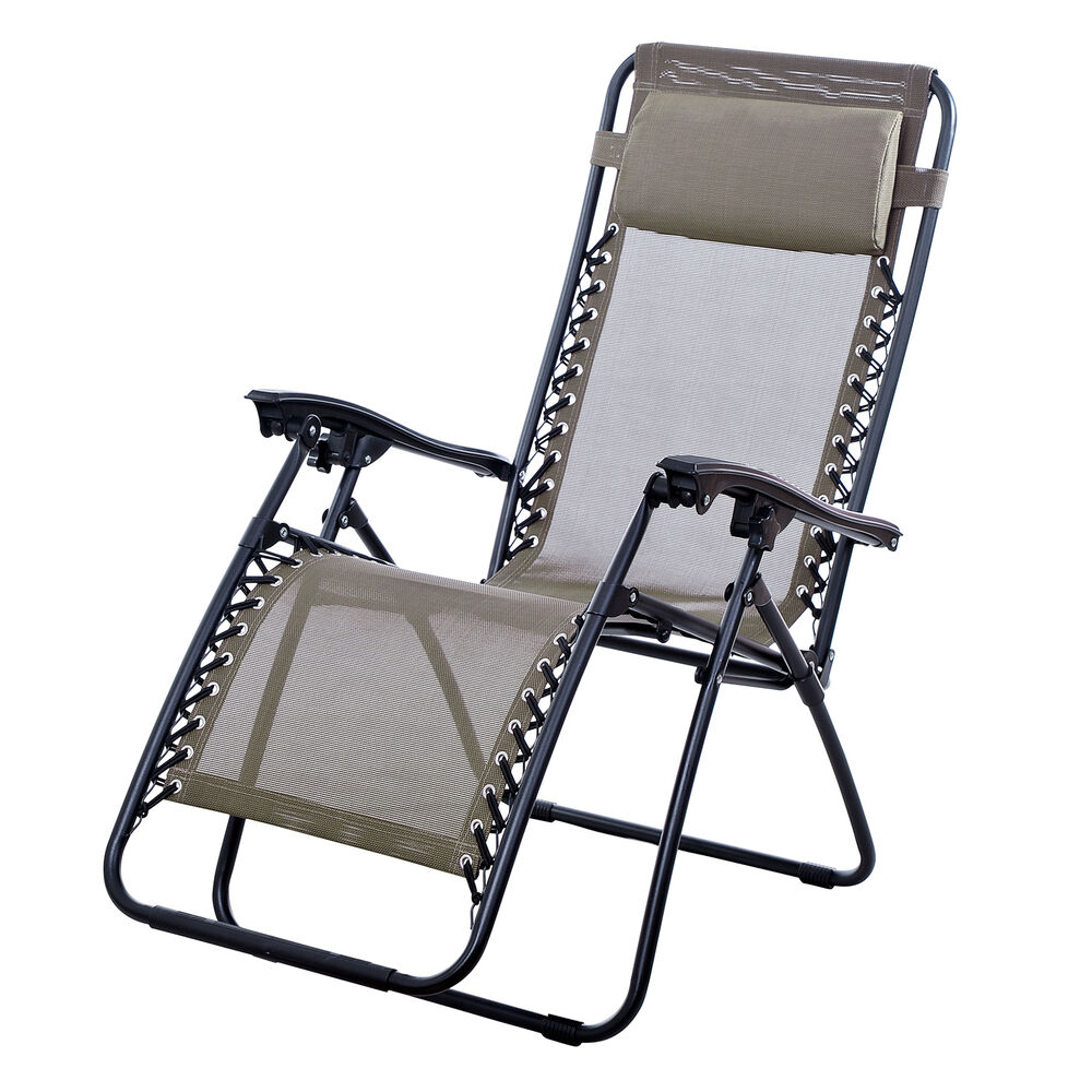 New Lounge Chairs Zero Gravity Folding Recliner Outdoor Patio Pool Garden Bro