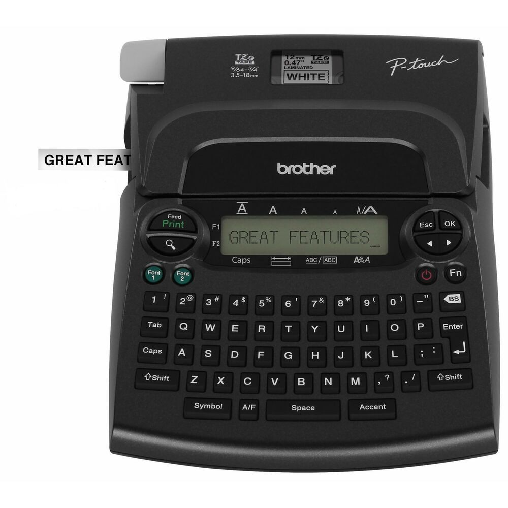 BROTHER PT-1890 P-TOUCH Deluxe LABEL MAKER Thermal Printer