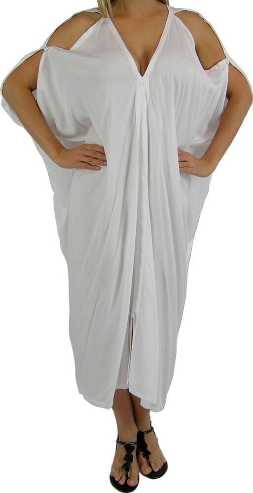 BNWT NEW COLD SHOULDER SUN DRESS LONG CAFTAN COVER UP ...