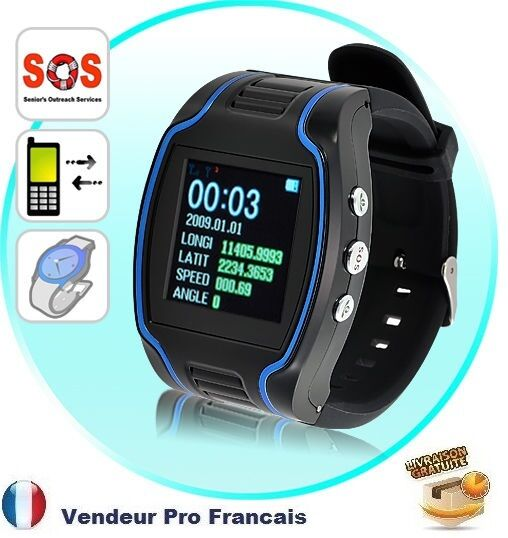 montre traceur tracker traqueur gps micro gsm enfant personne ag e vehicule etc ebay. Black Bedroom Furniture Sets. Home Design Ideas