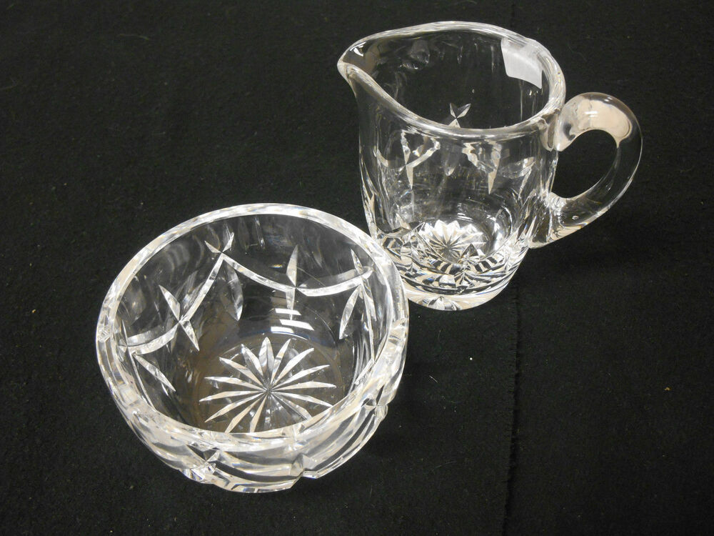 Two Piece Set Waterford Crystal Lismure Creamer And Open