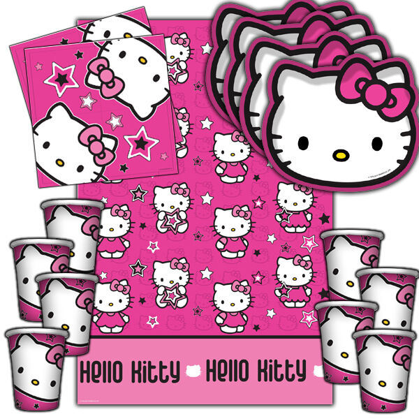 Hello Kitty Stars Complete Childrens Party Tableware