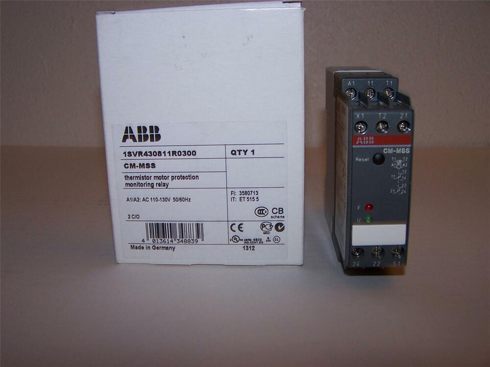 Abb cm mss 1svr430811r0300 thermistor motor protection for Abb motor protection relay catalogue