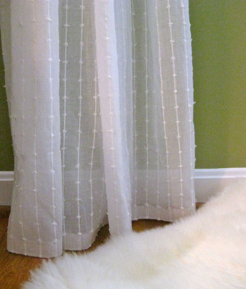 1 Nip Ikea Matilda Sheer Cotton Curtains White 2 Panels