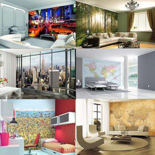 Wallpaper mural photo giant wall decor paper poster living for Living room paper