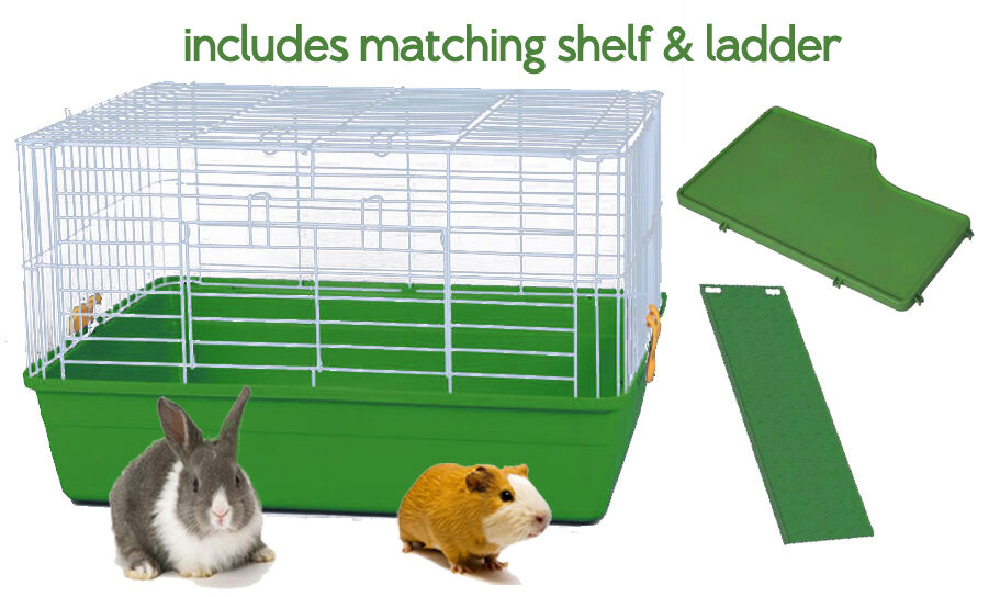 Rabbit guinea pig indoor cage hutch zeon bunny house home for Free guinea pig hutch