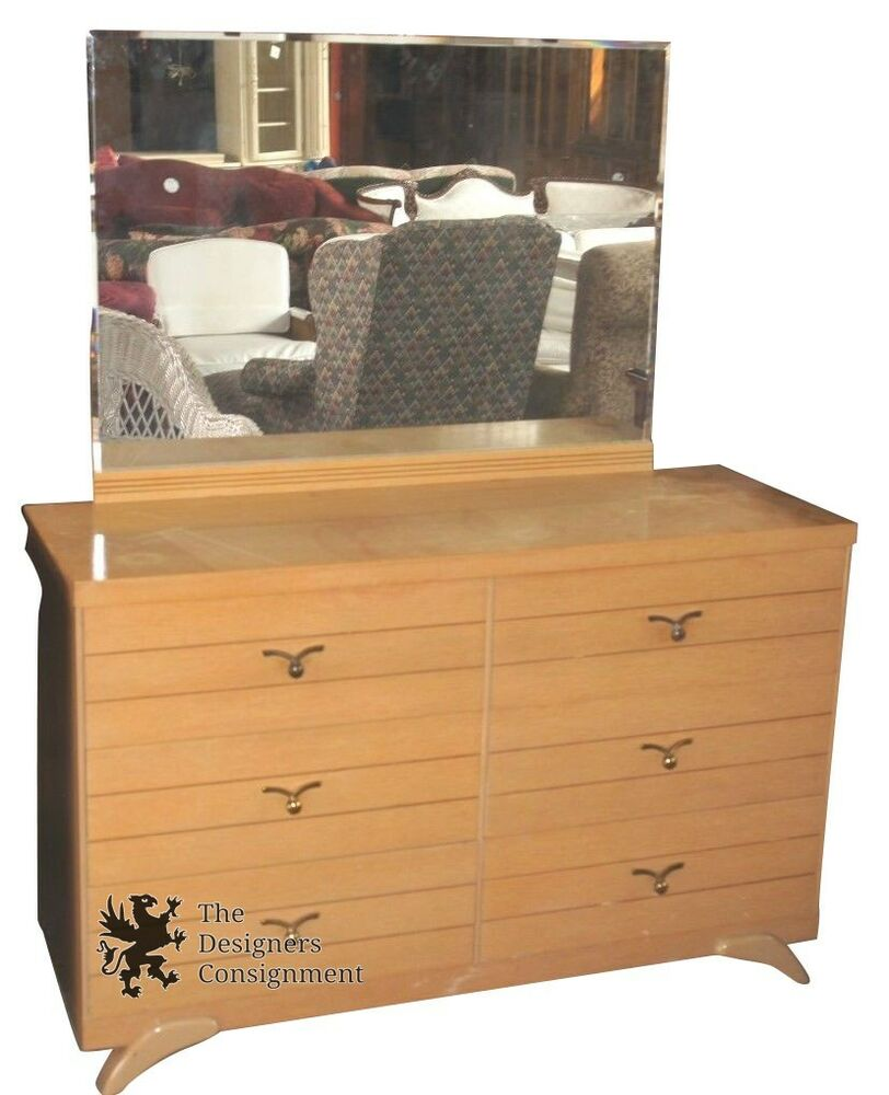 Oak Wood Dressers ~ Solid oak wood drawer vanity dresser w mirror quot