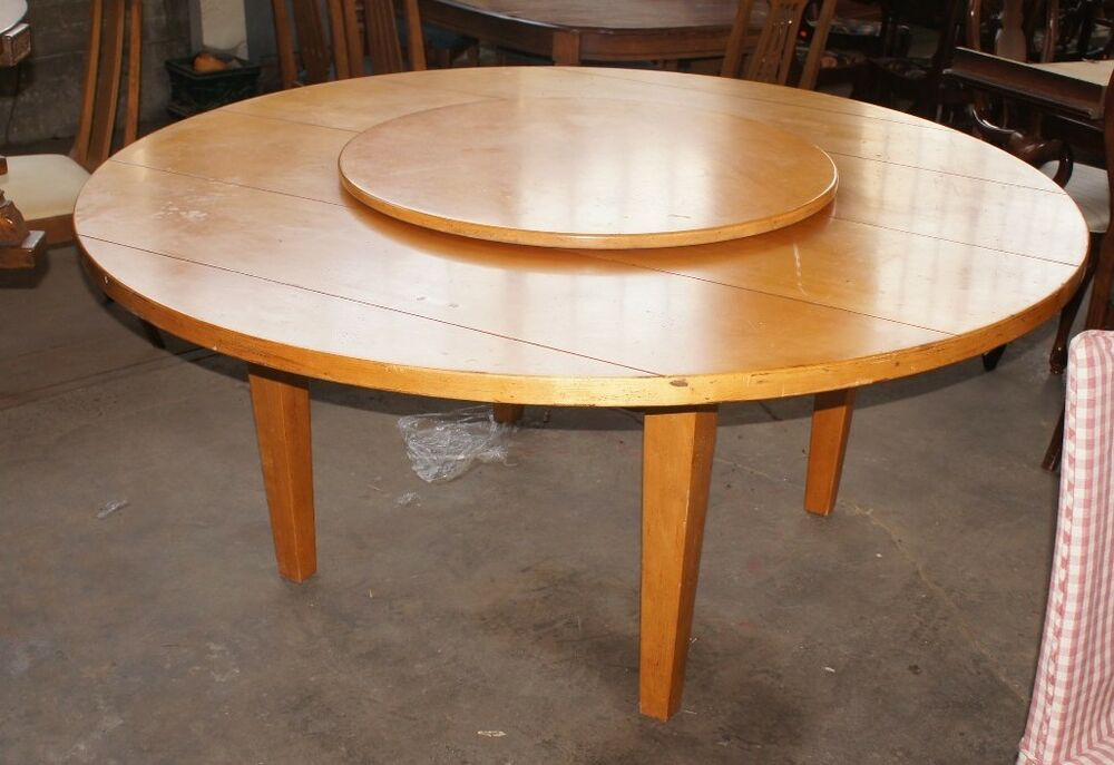 1 Amazing Round Drexel Heritage Table With Lazy Susan