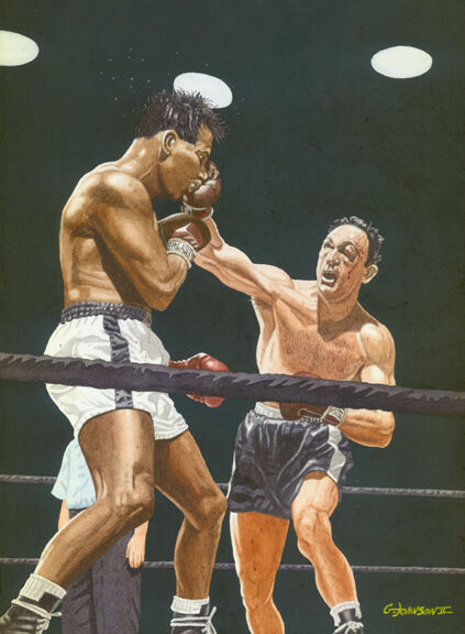 sugar ray robinson vs carmen basilio art print