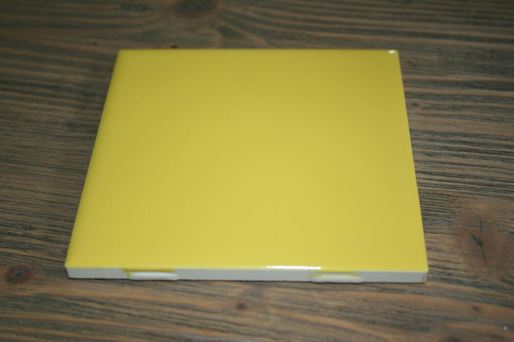 100 American Olean Ceramic Bright Canary Yellow Bathroom