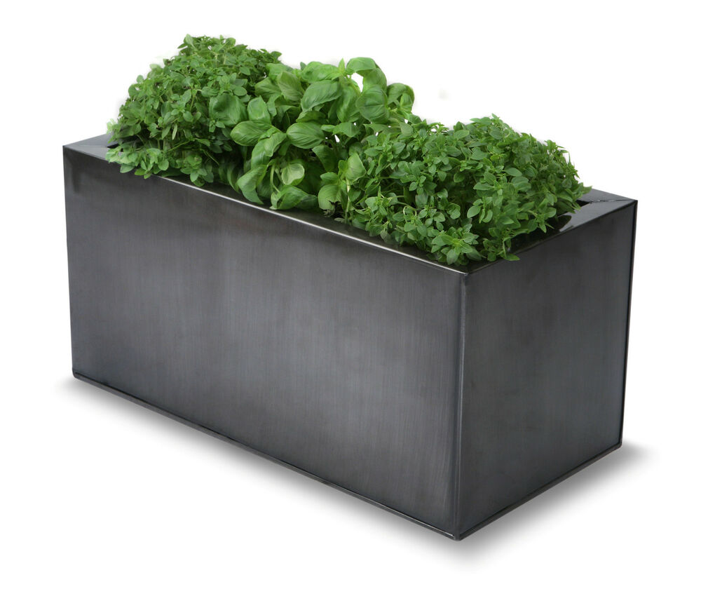 Kitchen Window Herb Planter: Metal Zinc Kitchen Herb Planter Pewter Plant Pot Window