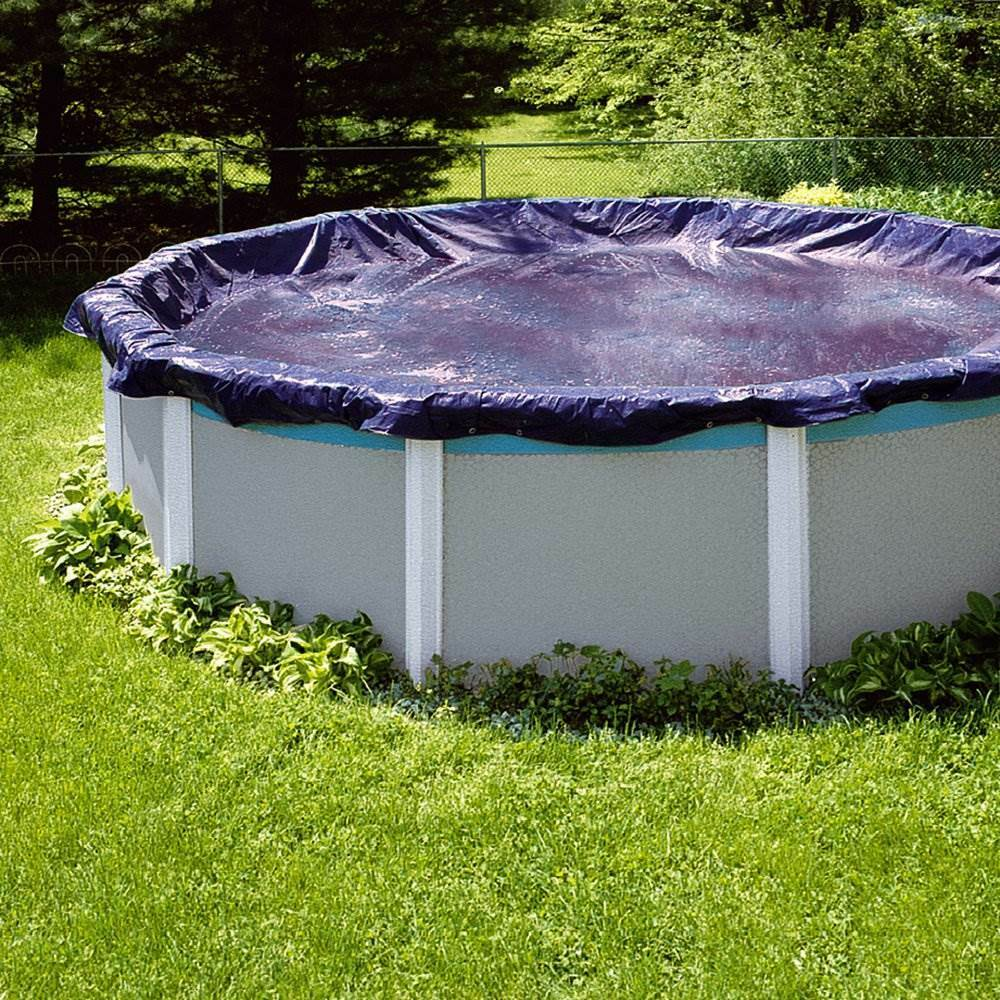 Swimline 28 Foot Round Above Ground Winter Pool Cover Blue Tools Pco831 Ebay