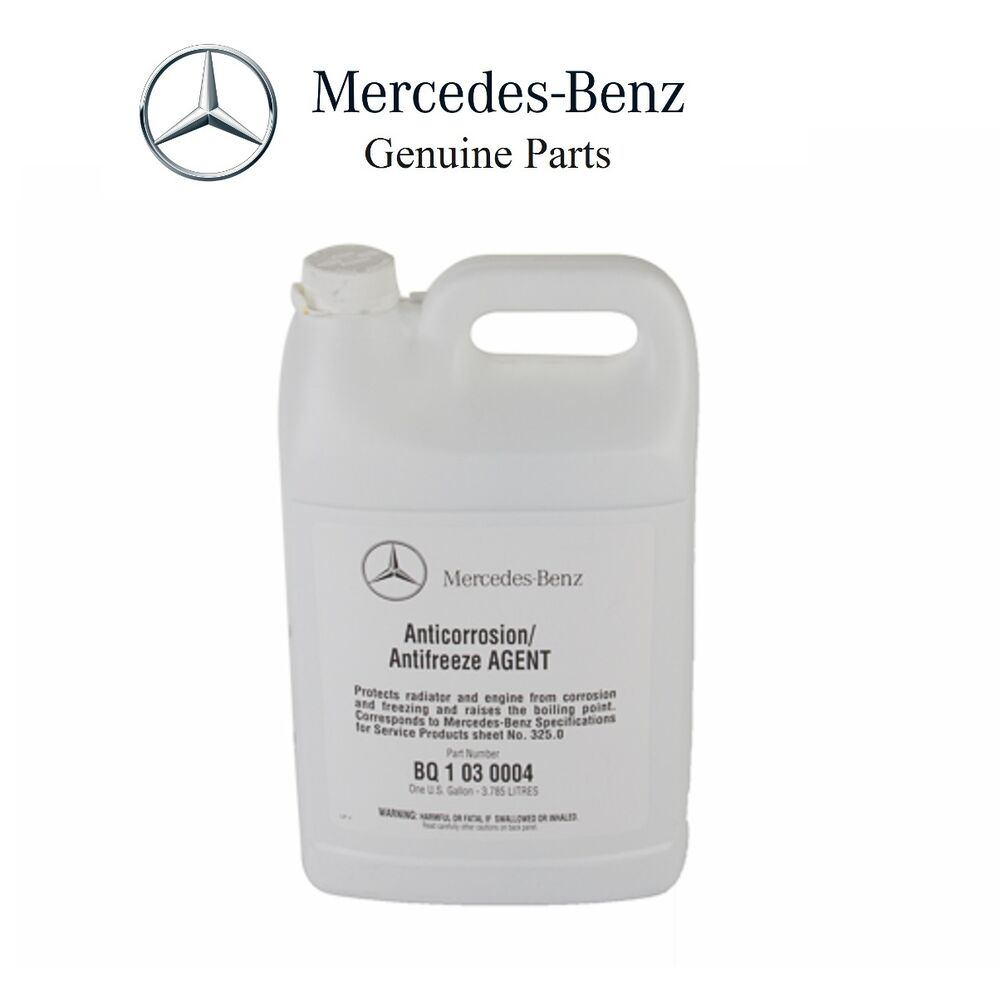Genuine mercedes benz blue colored engine coolant for Mercedes benz coolant