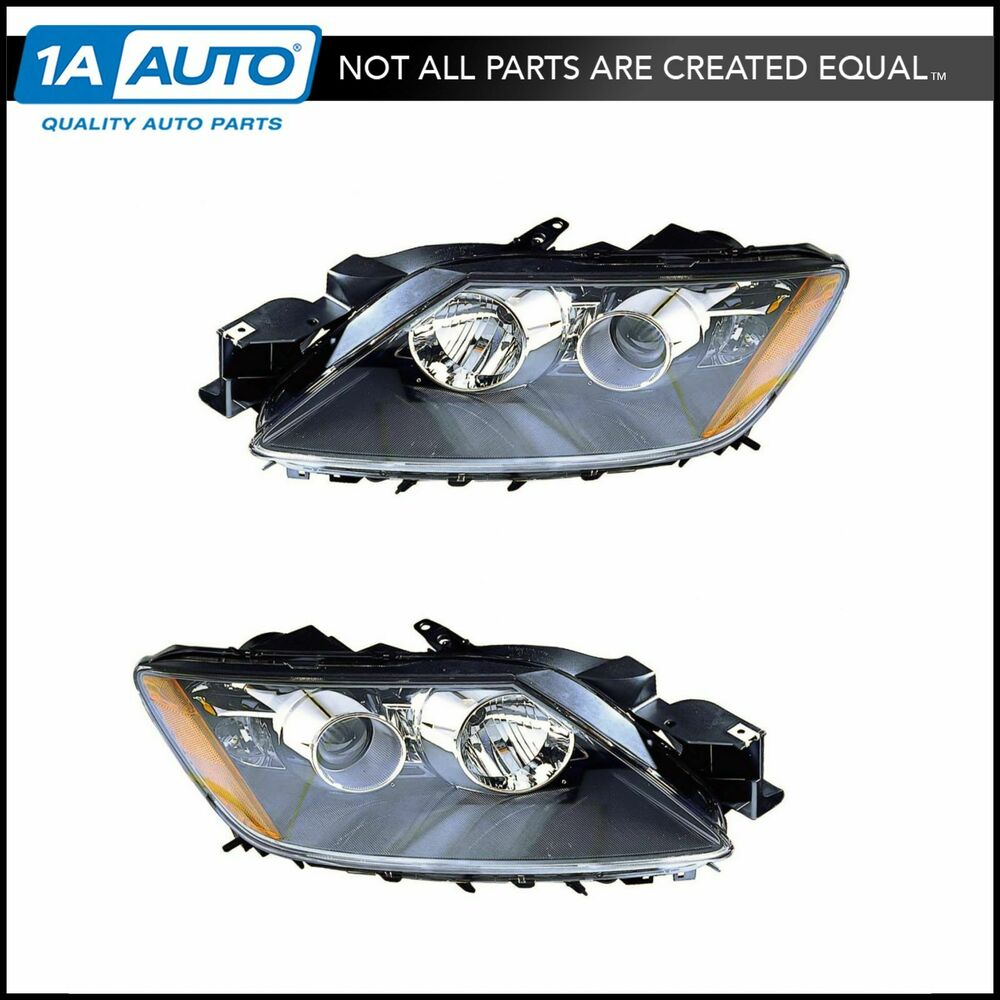 Halogen Headlight Headlamp Light Lamp Pair Set Kit For 07 09 Mazda Cx 7 Cx7 Ebay