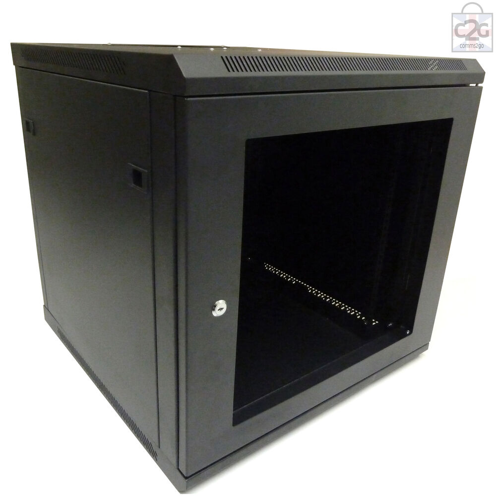 12U 600mm Black Wall Cabinet Network Data Rack For Patch