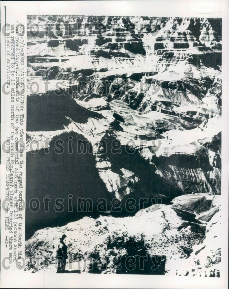 Vestiges of '56 collision still imbedded in Grand Canyon
