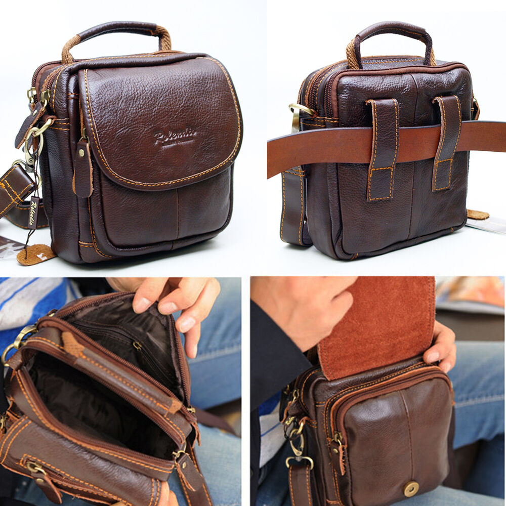 new leather mini messenger shoulder bag satchel belt loops