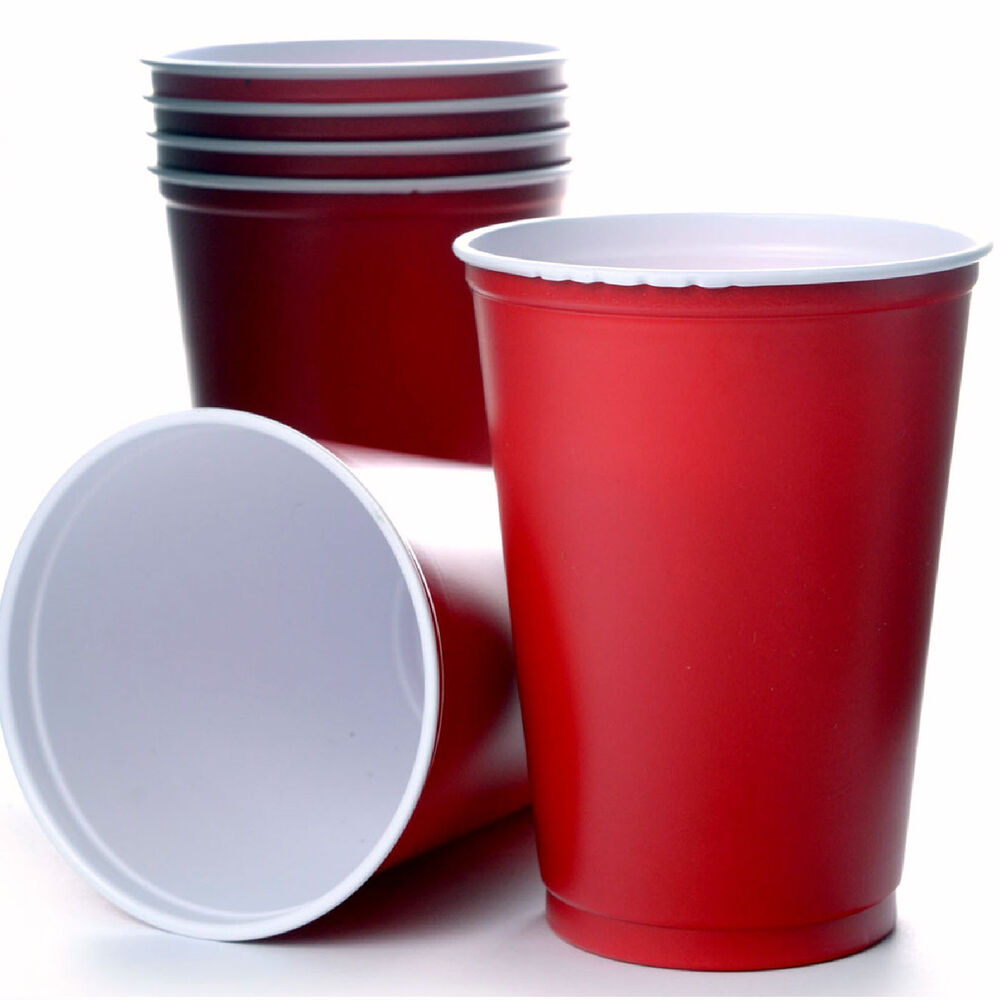 red solo cups 10oz partybecher beer pong cup 295 ml kult becher bierbecher usa ebay. Black Bedroom Furniture Sets. Home Design Ideas