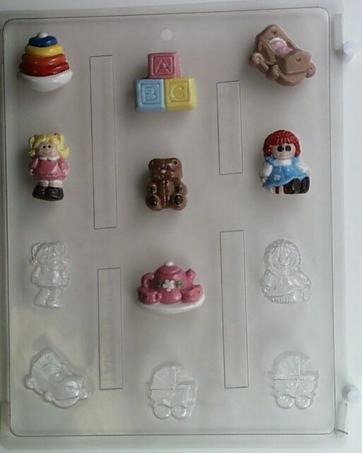 Girl Toys Bite Size Chocolate Candy Mold Baby Shower Favor