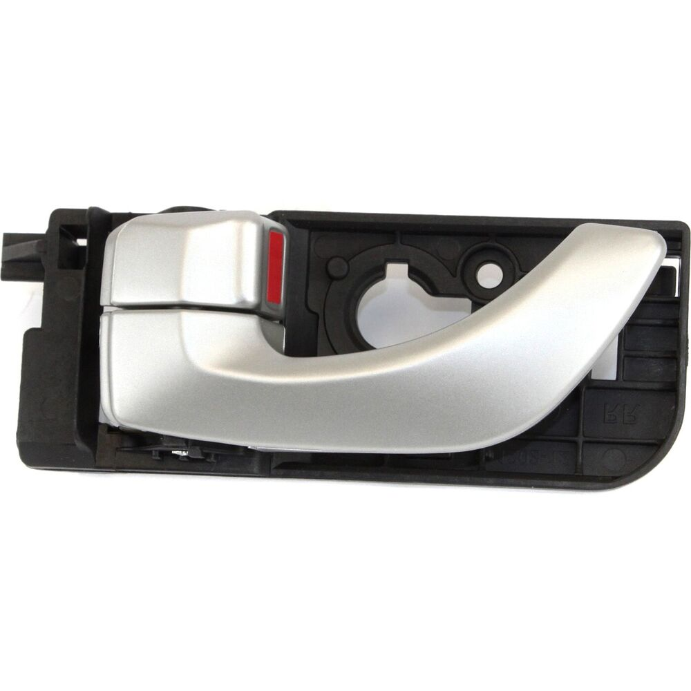 interior door handle for 2006 2007 hyundai sonata rear driver silver plastic ebay. Black Bedroom Furniture Sets. Home Design Ideas