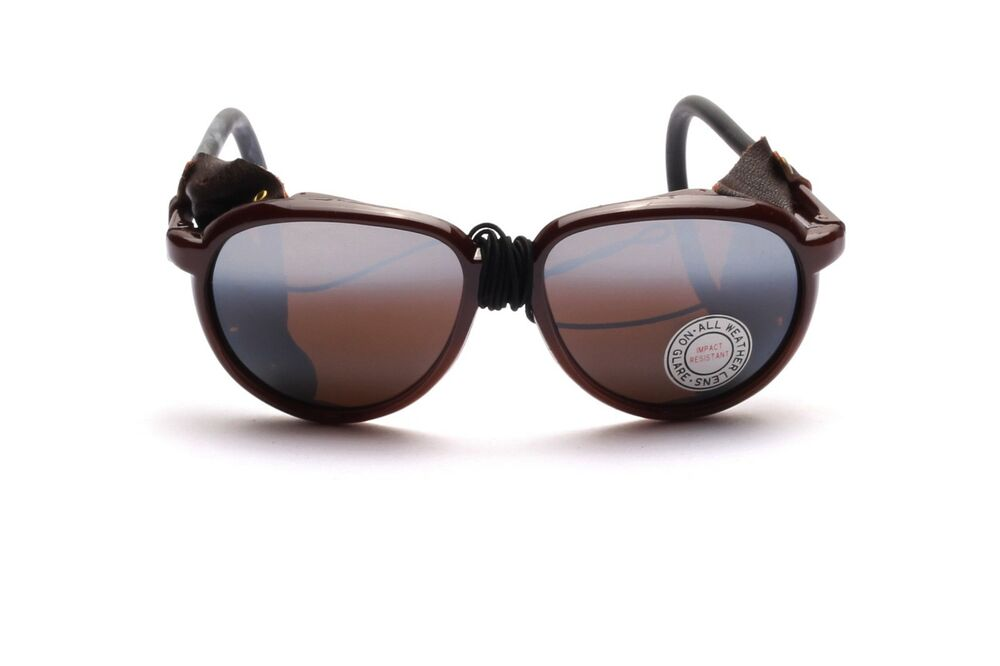 Unisex Brown Glacier Goggles With Side Protection F12p Ebay